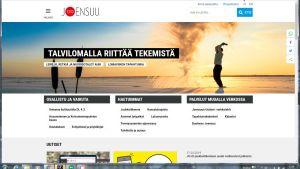 Kuvakaappaus Joensuun kaupungin nettisivuista.