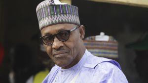 Nigerian presidentti Muhammadu Buhari kävi antamassa oman äänensä Nigerian Daurassa 23. helmikuuta.