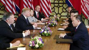 Yhdysvaltain presidentin Donald Trumpin ja Pohjois-Korean johtajan Kim Jong-unin tapaaminen oli pettymys.