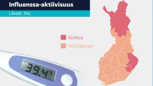 Kartta influenssatilanteesta