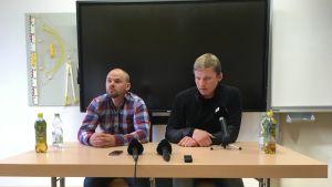 Viron maajoukkueen valmentaja Anti Saarepuu ja dopingepäilty Karel Tammjärv