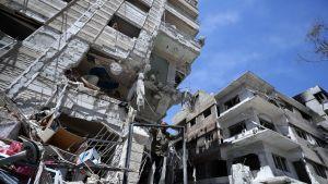 Raunioita Duman kaupungissa Syyriassa
