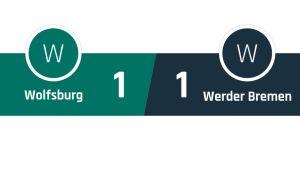 Wolfsburg - Werder Bremen 1-1