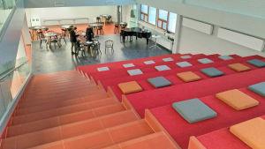 Centrian kirjasto avasi uusissa tiloissa keväällä 2019.
