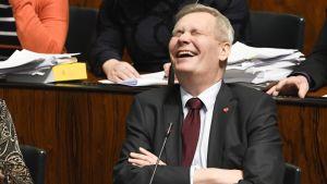 SDP:n puheenjohtaja Antti Rinne
