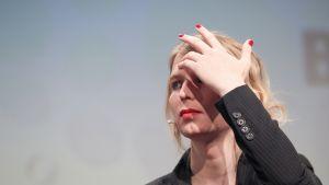 Chelsea Manning toukokuussa 2018. Hänet pidätettiin perjantaina.