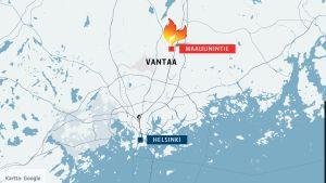 Kartta Vantaa Maauunintie