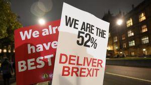 Britannian EU-eroa tukevien kanta voitti kansanäänestyksessä kesällä 2016. Nyt he haluavat varmistaa, että ero myös toteutuu.