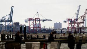 Kuva New Yorkin satamasta maaliskuussa 2018.