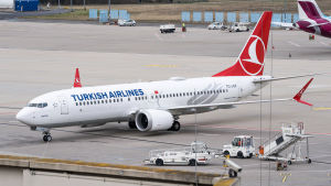 Turkish airlinesin Boeing 737 Max 8.