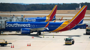 Southwest Airlines -yhtiön käyttämiä A Boeing 737 Max 8 -lentokoneita.