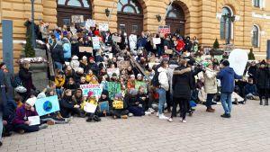 Ilmastolakko Oulu 15.3.2019.