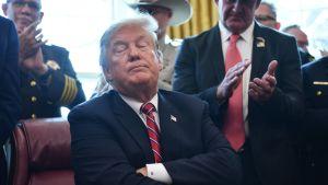 Donald Trump puhui maansa etelärajalle rakennettavasta muurista 15. maaliskuuta.