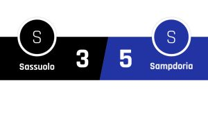 Sassuolo - Sampdoria 3-5