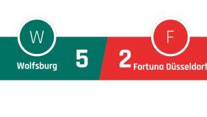Wolfsburg - Fortuna Düsseldorf 5-2