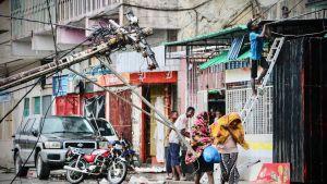 Hirmumyrskyn jälkeisiä tuhoja Beirassa, Mosambikissa 17. maaliskuuta.