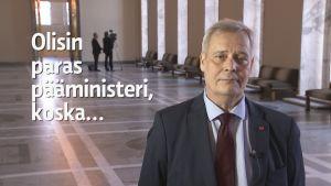 Antti Rinne puheenjohtajahaastattelussa