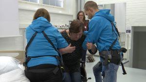 Tredun opiskelijat testaavat voimavyötä