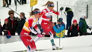 Ingvild Flugstad Östberg ja Therese Johaug kuvassa
