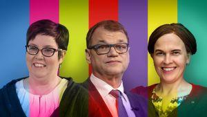 Oulun vaalipiirissä ehdolla ovat muun muassa Merja Kyllönen (vas.), Juha Sipilä (kesk.) ja Mari-Leena Talvitie (kok.).