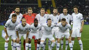 Huuhkajat joukkuekuva Italia-ottelu