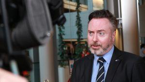 Alyn Smith edustaa Skotlannin itsenäisyyspuoluetta Euroopan parlamentissa.