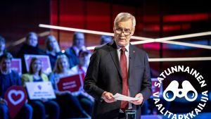 Antti Rinne puoluejohtajien vaalitentissä maanantaina 25. maaliskuuta 2019.