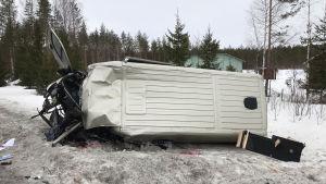 Kuva Kiteen onnettomuuspaikalta.
