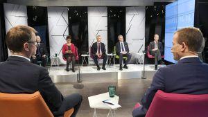 Ylen ensimmäinen puheenjohtajatentti Helsingissä 14. maaliskuuta.