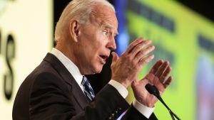 Jos Biden piti puheen Washingtonissa 12. maaliskuuta.