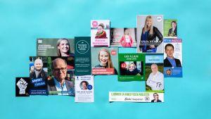 Eduskuntavaalit 2019, ehdokkaiden esitteitä