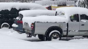 Pohjois-Satakunnassa satoi runsaasti lunta 8. huhtikuuta