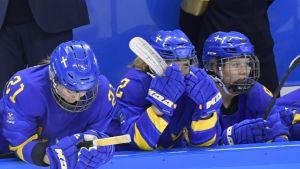 Ruotsin naisten maajoukkue Pyeongchangissa.