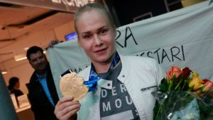 Petra Olli lokakuussa MM-kisojen jälkeen