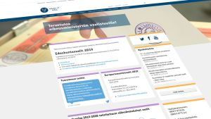 Oikeusministeriön vaalit.fi -sivuston etusivu.