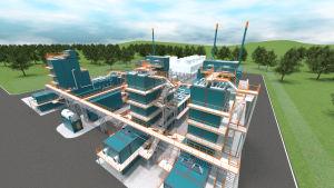 Woima Corporationin jätteenpolttolaitoksen havainnekuva