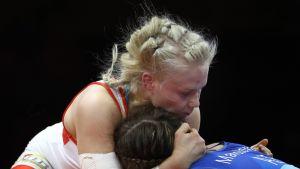 Petra Olli kohtasi Azerbaidzhanin Elis Manolovan myös viime vuonna EM-finaalissa.