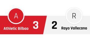 Athletic Bilbao - Rayo Vallecano 3-2