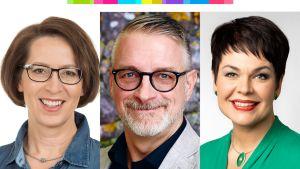 Sari Essayah, Marko Kilpi ja Hannakaisa Heikkinen.