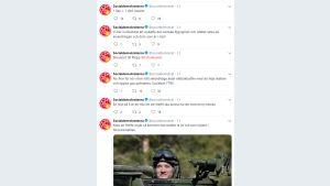 Kuvakaappaus Socialdemokraterna puolueen Twitter-tililtä.
