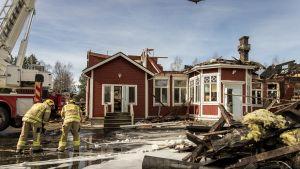 Palon syttymissyystä ei vielä tässä vaiheessa ole tietoa.