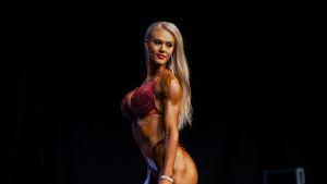 Reetta Kanniainen voitti bikini fitness -kilpailun yli 172-senttisten sarjassa Fitness Classic -kilpailussa Helsingin Kulttuuritalolla 21.4.2019.