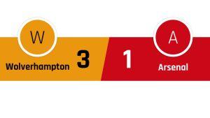 Wolverhampton - Arsenal 3-1