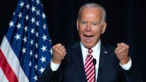 Joe Biden keräsi enemmän rahaa kuin kilpailijansa ensimmäisen vuorokauden aikana. Kuva marraskuulta.