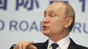 Venäjän presidentti Vladimir Putin kommentoi Ukraina-asiaa Pekingissä Uusi silkkitie -kokouksen päätöspäivänä lauantaina.