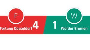 Fortuna Düsseldorf - Werder Bremen 4-1