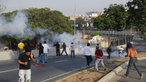 Mielenosoitus Caracasissa 30. huhtikuuta 2019.