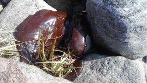 Öljyä kivien päällä