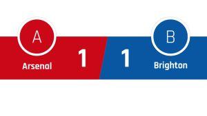 Arsenal - Brighton 1-1