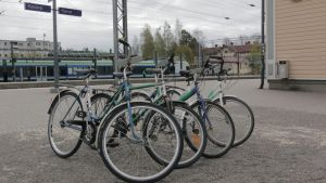 Keravan kaupunki on tuonut kaupunkilaisten yhteiskäyttöön seitsemän polkupyörää.